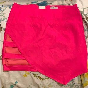 Tobi hot pink skirt